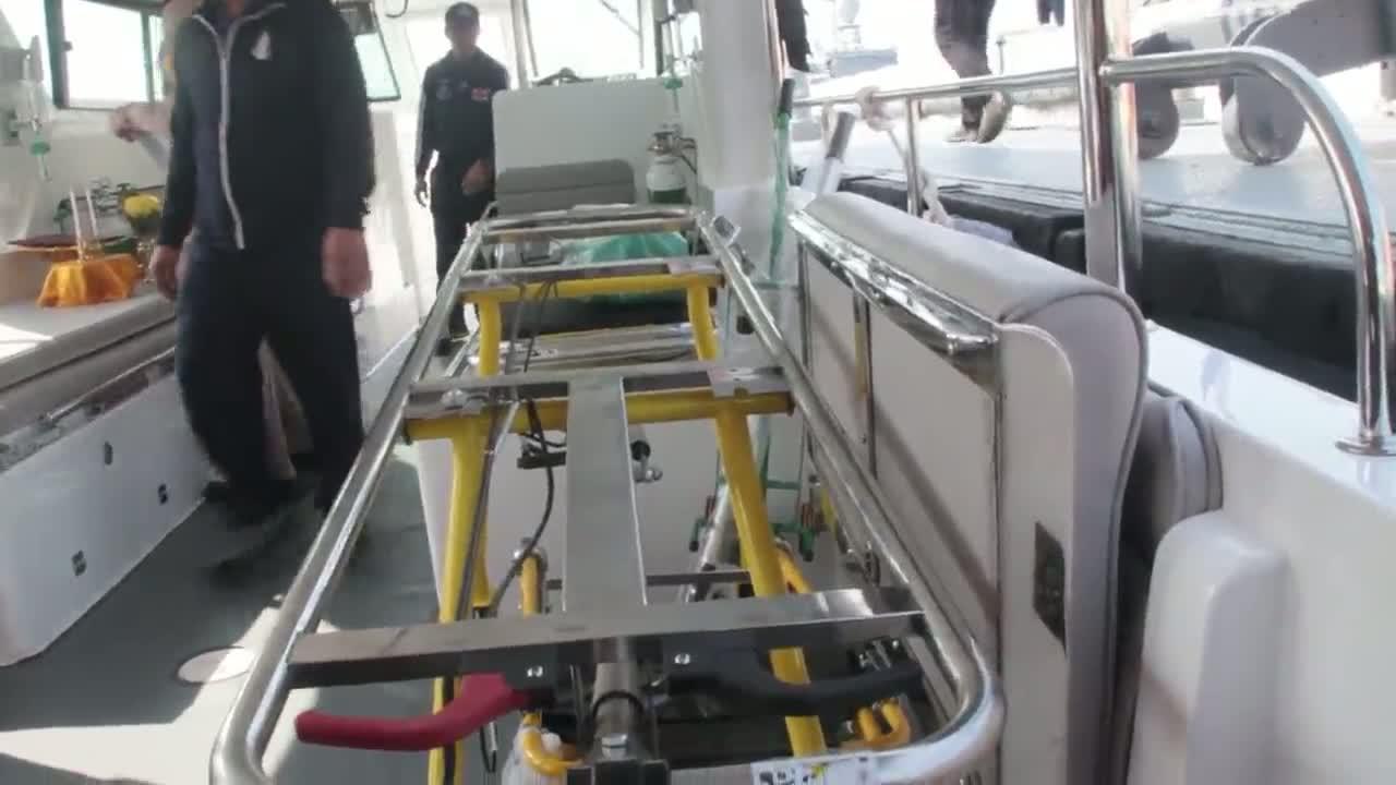 พังงา/ลงนามร่วมมือในการใช้เรือพยาบาลตั้งเครือข่ายศูนย์ปฏิบัติการตอบโต้ภาวะฉุกเฉินทางทะเล