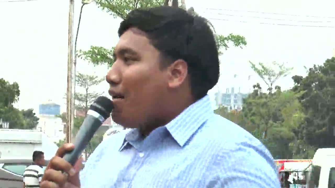 โคราช-จ่านิวนำกลุ่มนักศึกษาจัดกิจกรรมเรียกร้องการเลือกตั้งที่ลานย่าโม